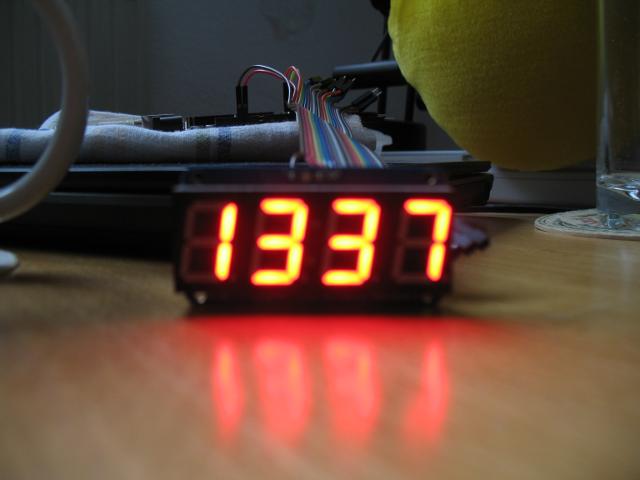 Arduino wecker teil gehversuche mit uno und display